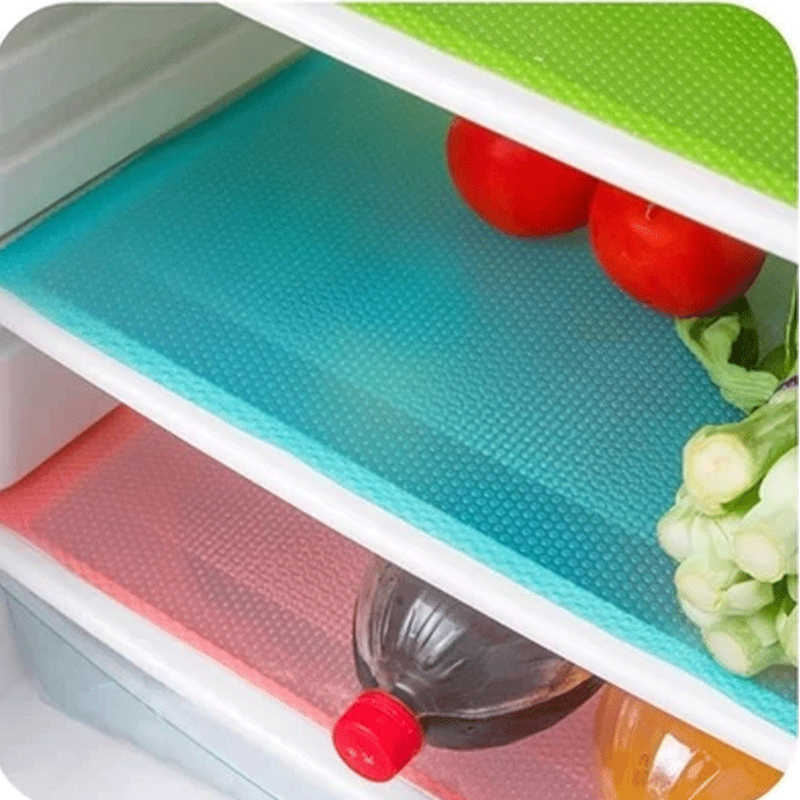 4 Pcs/ 1PC Eco-Friendly Refrigerator Waterproof Pads Antibacterial Antifouling Mildew Anti Frost Moisture Absorption Pad