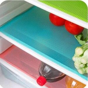 Image 1 - 4 Pcs or 1PC Eco Friendly Refrigerator Waterproof Pads Antibacterial Antifouling Mildew Anti Frost Moisture Absorption Pad