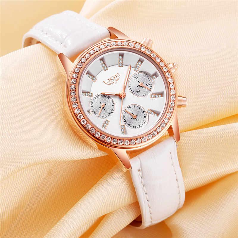 נשים יוקרה מותג העליונים ליגע מזדמן אופנה שעון שמלת יהלומי גבירות שעון קוורץ עור שעונים נקבה מתנות Relogio Feminino