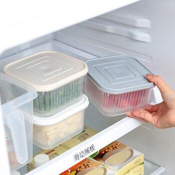 Двойная коробка для слива свежих продуктов, прозрачный контейнер для хранения герметизации, контейнер-холодильник, коробка для хранения ов...