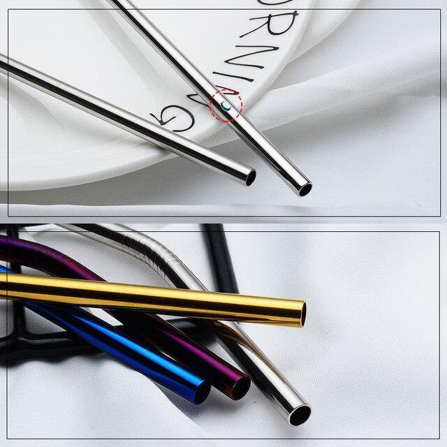 IRONX 304 Rvs Herbruikbare Metalen Rietjes +  Reinigings borstel  Bar Accessoires Voor 20 Oz Cup  3