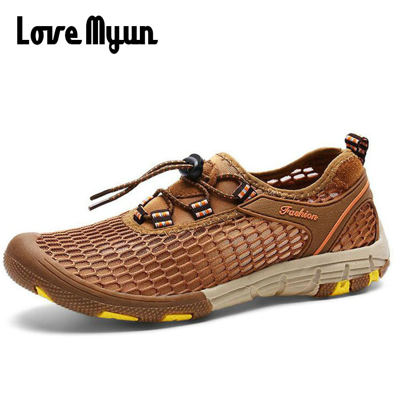2018 summer men fashion font b sneakers b font slip on Breathable rock climbing shoes Hard