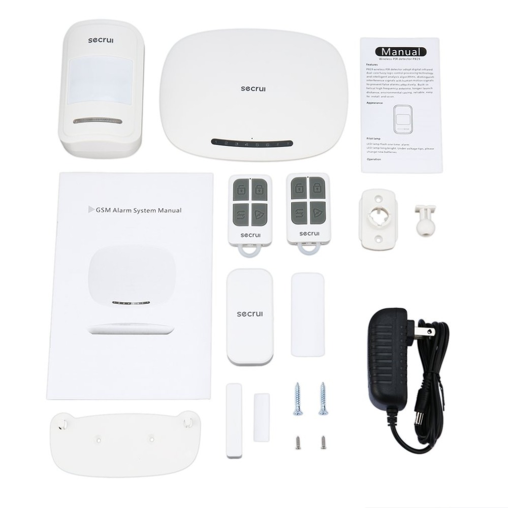 W19 TFT Color Screen GSM Alarm System Wireless Detector Digital Dual Core Technology Infrared Detector Import Sensors