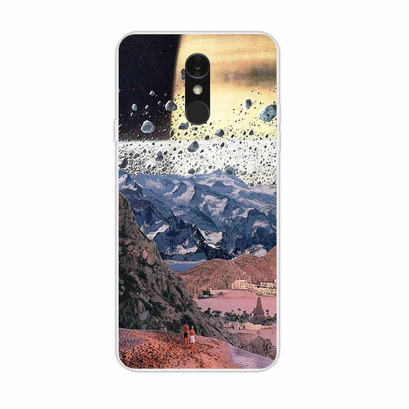 5.5 pouces pour Funda LG Q7 LG Q7 + coque de téléphone souple TPU coque transparente pour LG Q7 Q7 + couverture arrière colorée luxe Silicone Gel Capa