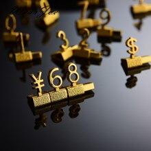 Étagère de luxe en métal 3D, étiquette de prix ajustable en euros