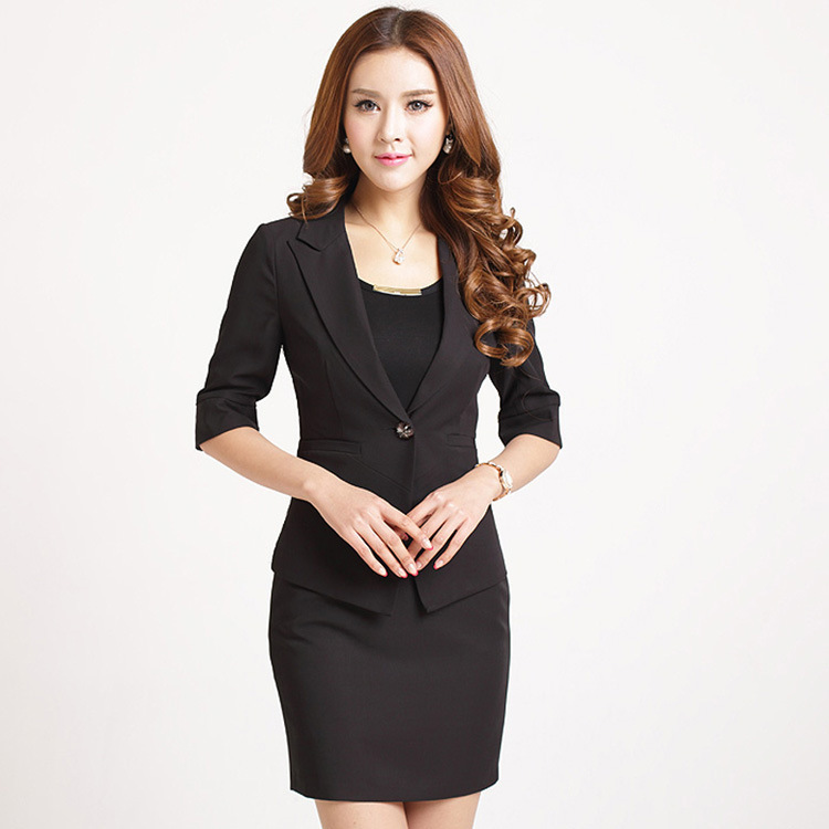 1dd27a4ce3d Hot Sale Women s Clothing Girls Blazer ladies Skirt women business suits  formal office suits work skirt suit Cheap clothes-in Skirt Suits from  Women s ...