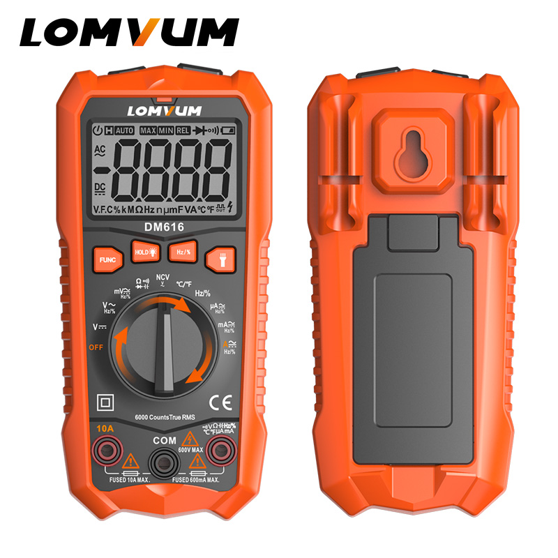 LOMVUM Digital Multimeter Tester LED NCV LCD Multitester Probes Voltage Meter Handheld AC DC Ammeter Ohm Capacitor Voltmeter marking tools