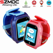 Купить с кэшбэком IP67 Waterproof Children GPS M06 Swimming Smart Watch SOS Call Location Device Tracker Kids Safe Anti-Lost Monitor Watch PK DF25