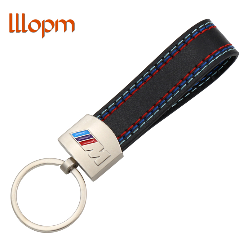 lllopm Metal Key Chain For Car Keyring Leather Car Key Ring Keychain for BMW M LOGO Sport E46 M5 X1 X3 E46 E39 Key Accessories all characters tracer reaper widowmaker action figure ow game keychain pendant key accessories ltx1