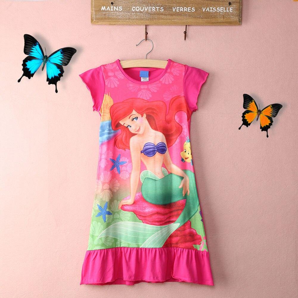 Gut Ausgebildete Pudcoco 2019 Cartoon Große Größe 6-16yr Mädchen Kind Kinder Meerjungfrau Ariel Rock Pyjama Nachtwäsche Nachthemd Sommer Rose Cartoon Kleid