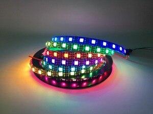 Image 4 - WS2812B DC5V wodoodporna taśma pikselowa led light 1 m/4 m/5 m 2812 IC wbudowana indywidualnie adresowalna lampa taśmowa RGB 30/60/144 leds/m
