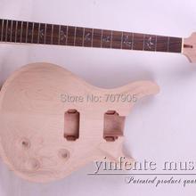 Одна незавершенная электрическая гитара Шея ГОЛОВА и тело розовое дерево гриф