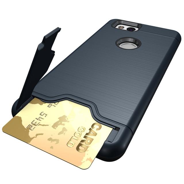 newest af6cd ea197 US $4.54 9% OFF|For Google Pixel 2 Case Stand Card Wallet Case For Google  Pixel 2 XL Case Heavy Duty Armor Hybrid Hard Cover For Google Pixel 2-in ...