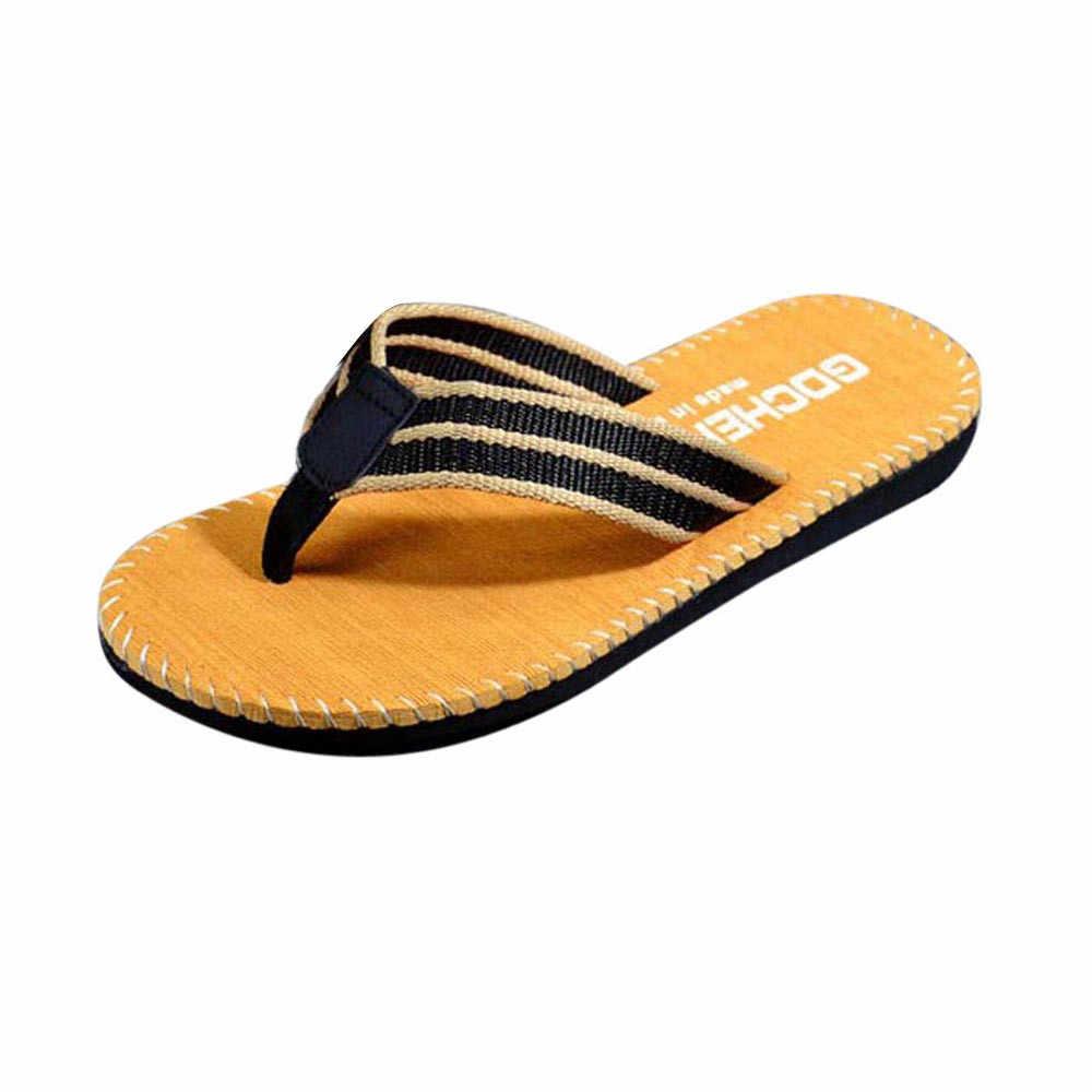 JAYCOSIN Mannen Vrouwen Koppels Zomer Streep Slippers Schoenen Sandalen Mannelijke Slipper Strand Schoenen Comfortabele Ongedwongen Thuis Slippers