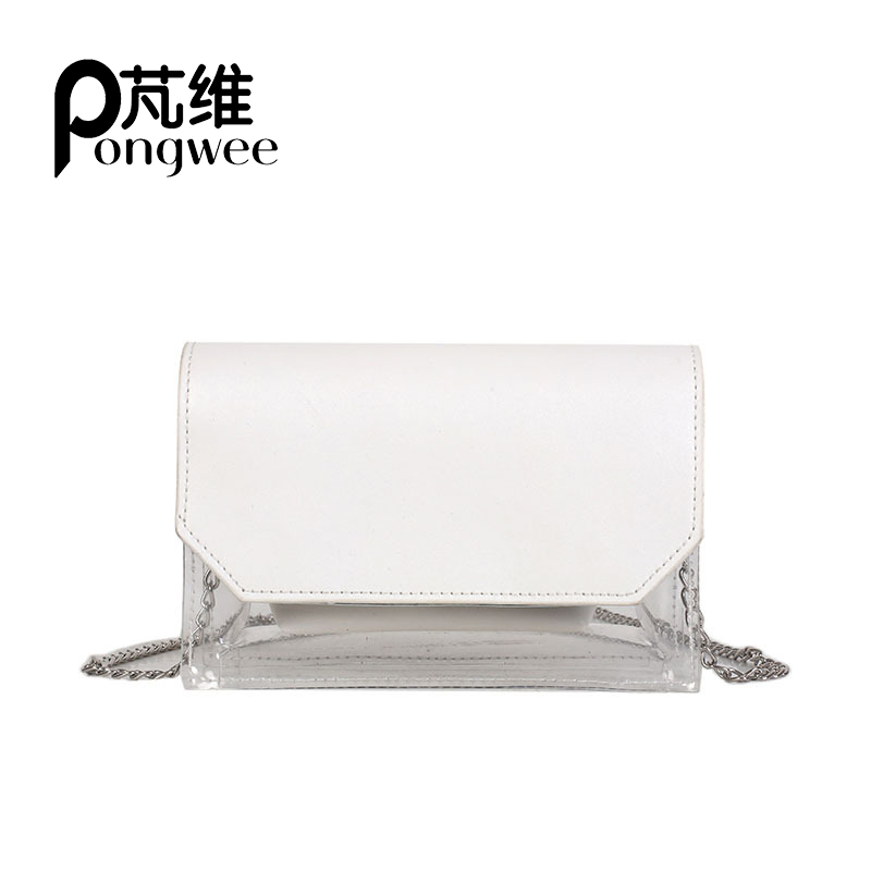 Pongwee High Quality Clear Plastic Handbags Women Messenger Bag For S Shoulder Bags Clutch Transparent Purse Jelly In From Luggage