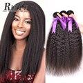 Brazilian Kinky Straight Hair Weave Brazilian Virgin Hair 4 Bundles Human Hair Bundles Brazilian Hair Weave Bundles Coarse Yaki