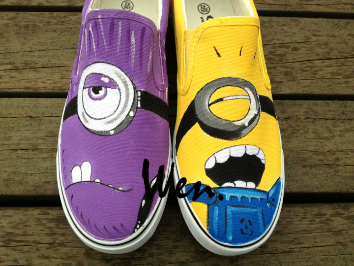 256e5d96ff Wen Hand Painted Shoes Custom Design Minions Despicable Me Slip On Canvas  Shoes Women Men s Christmas Birthday Gifts