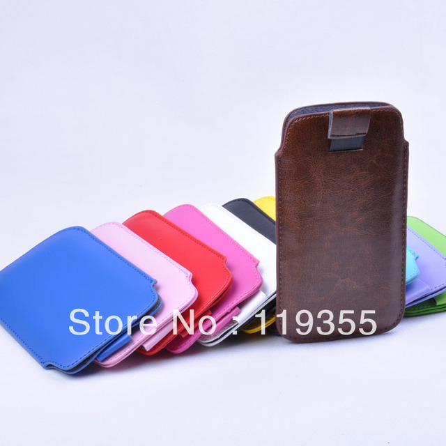 pu leather bag PULL TAB LEATHER POUCH CASE FOR IPHONE 5 SAMSUNG s3 9300 FREE SHIPPING