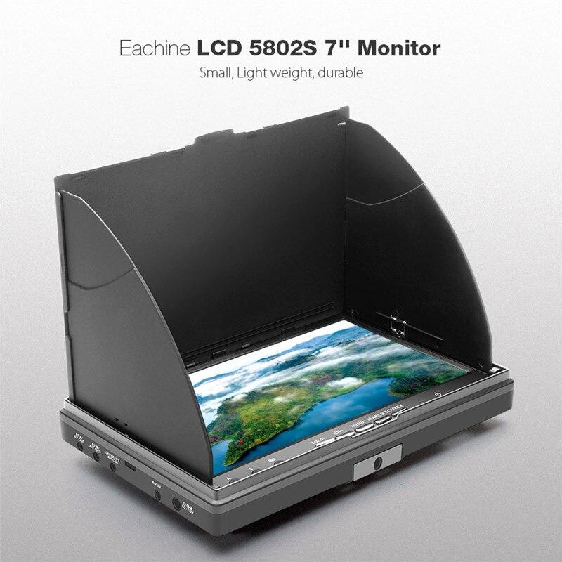 Высокое качество Нибиру lcd5802s 5802 40ch raceband 5.8 Г 7 дюймов разнесенного Мониторы со встроенным Батарея