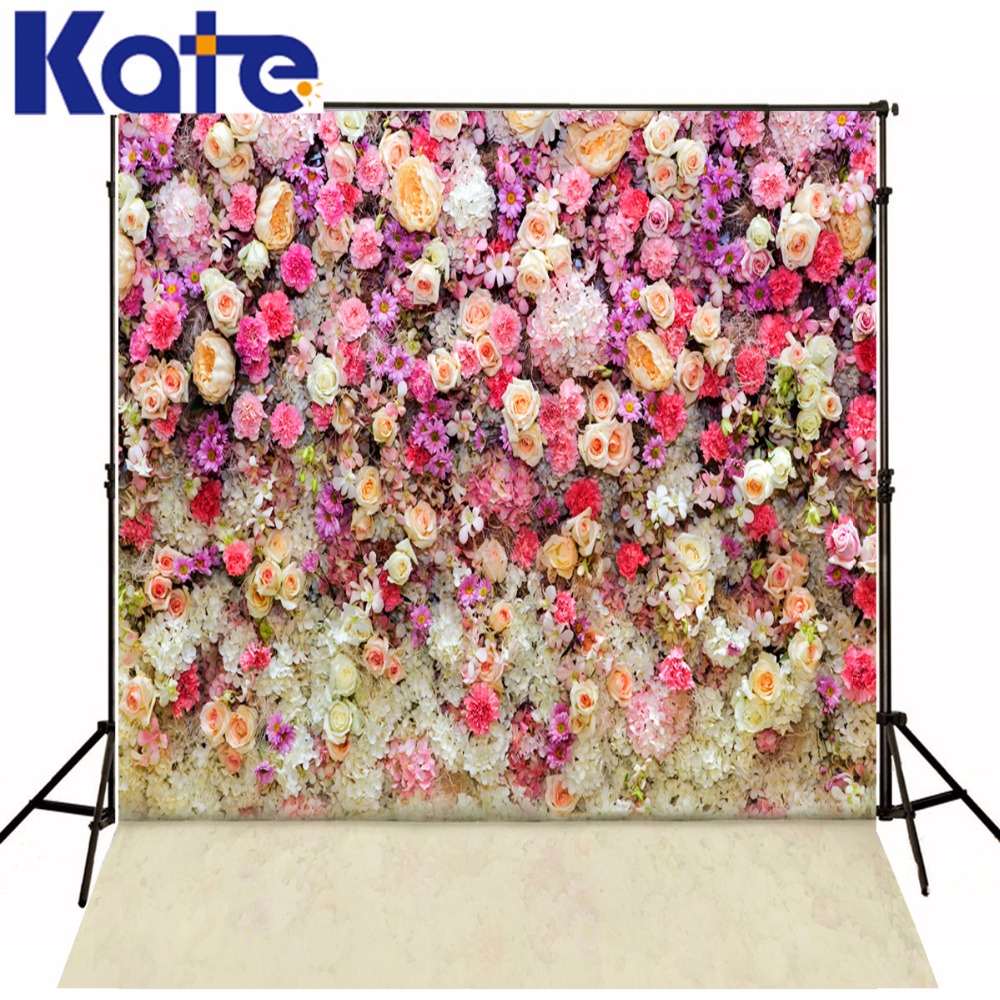 KATE Photography Backdrops Photo Flowers Background Photocall Wedding Backgrounds for Photo Studio Wooden Children Background wedding photo backdrops white flowers hanging lights computer printing background gray wall murals backgrounds for photo studio