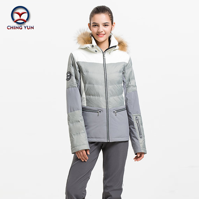 CHINGYUN Professional Lovers winter ski suit thermal cotton windproof  sports sets outdoor skiing snowboard jacket trousers 7004 d addario j4501 pro arte nylon classical guitar single string normal tension first string