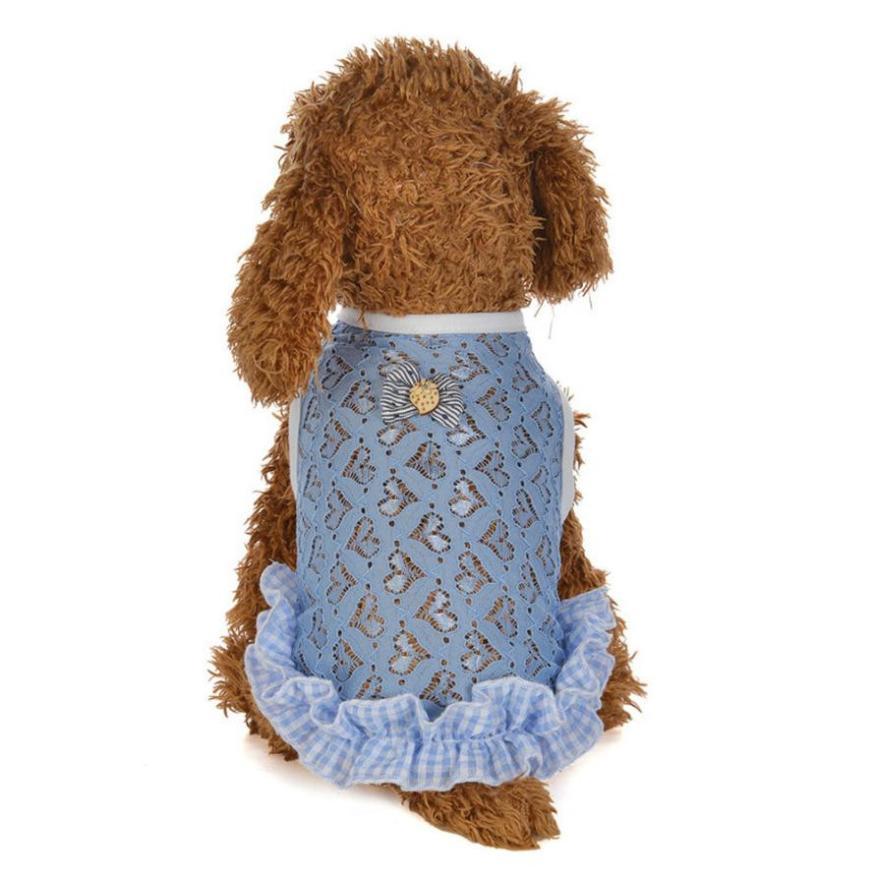 Liefde Vorm Mesh Vest Hond Kostuums Hond Kleding Voor Kleine Honden Fashion Puppy Hond Prinses Hundebekleidung Abrigo Perro
