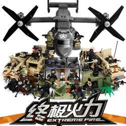 Собраны строительные блоки военная серия автомобилей дети головоломки мини-игрушки самолеты человек 3 - 6 - 10 - 12 лет мальчик