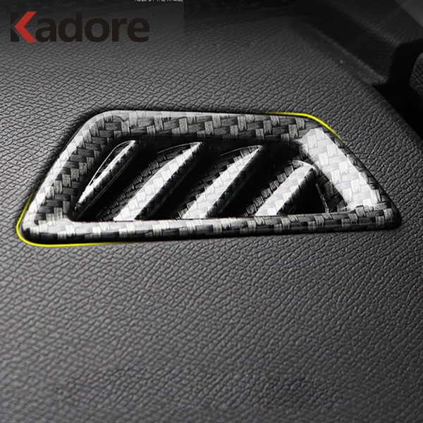 For <font><b>Peugeot</b></font> <font><b>3008</b></font> GT <font><b>2016</b></font> 2017 2018 2019 2020 Carbon Fiber Air Conditional Outlet AC Vent Cover Trim Car Interior Accessories image