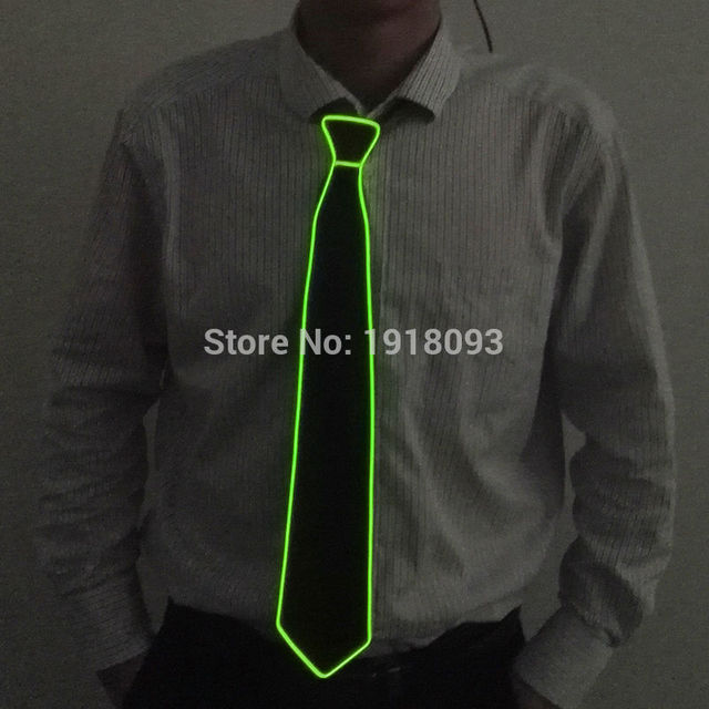 New Style Light 10 Colors Flashing Bright LED Neck Tie glowing EL ...