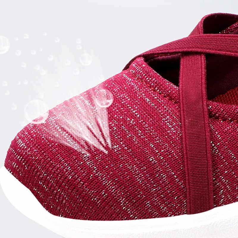 Zomer Vrouw Flats Slip Op Cross-gebonden Schoenen Casual Vliegende Weven Ademend Licht Zachte Zool Wig Canvas Sneakers Schoenen XWD7730