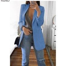 2019 New Spring Women Blazer Long Sleeve Open Front Lightwei