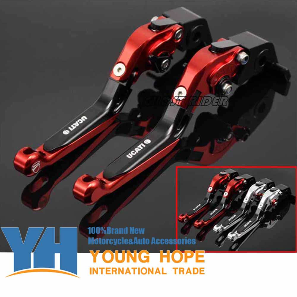 fits for DUCATI MONSTER 659 696 796 Motorcycle Accessories CNC Billet Aluminum Folding Extendable Brake Clutch Levers