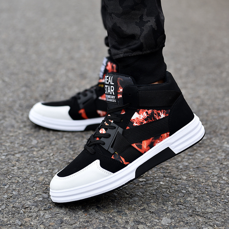 Sneakers 2018 Casual Blue Respirant Top De Conseil White black Étudiants Zapatos Chaussures Tendance Nouvelle High black Hommes Hombre Mode Red Black With BA5w4pnq