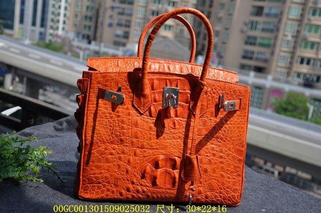 100 Genuine Crocodile Skin Authentic Womens Hornback Leather Zip Locked Bag Purse