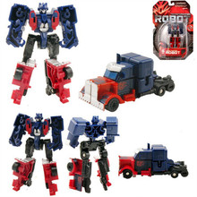 7pcs/set 7-8cm Robot Cars  transhape Transformation  Kids Classic Robot Cars Toys For Children Action & Toy Figures