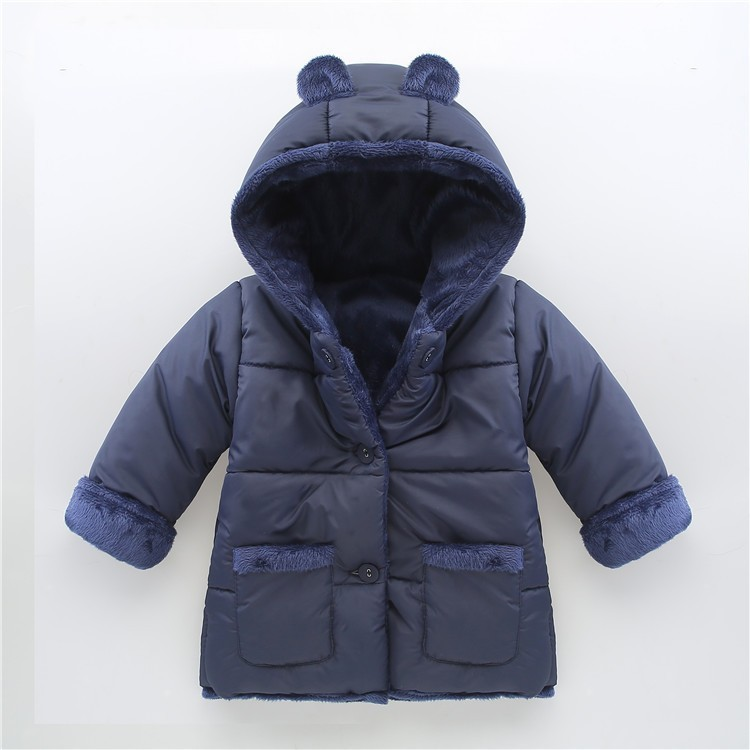 BibiCola Baby Winter Jacket 2017 new baby boy children girls winter coat down thick padded newborn winter jacket parkas