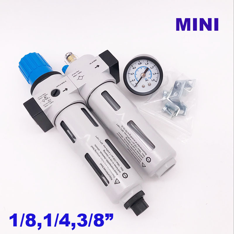 High quality Pneumatic air filter regulator and lubricator Auto drain 1 8 1 4 3 8