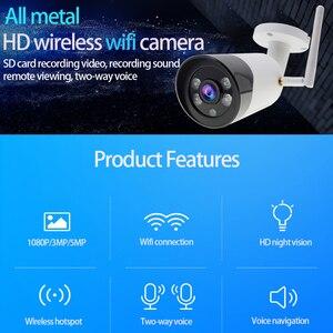 Image 2 - Outdoor Draadloze 1080 P HD Wifi metalen camera CCTV Camara Kogel Mobiele telefoon SD TF card slot Security Camera ICsee XMeye