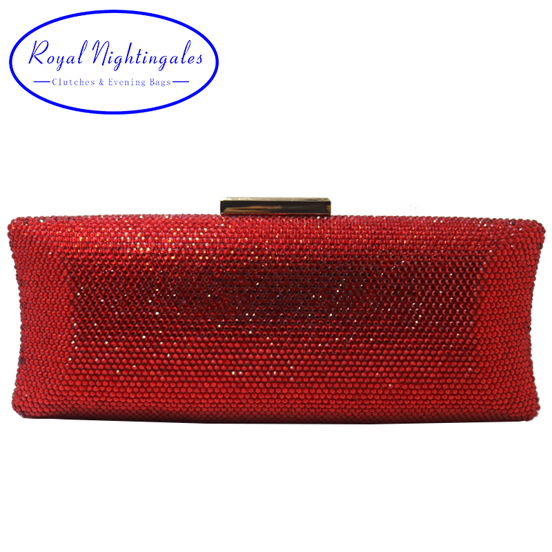 Royal Nightingales 2019 Women Crystal Clutches Hard Box Evening Bags Crossbody Handbag Wristlets Clutch for Party