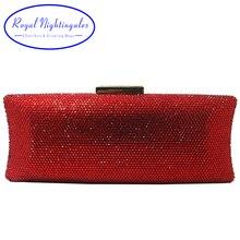 Crossbody Handbag Clutches Evening-Bags Crystal Women Party Hard for Royal-Nightingales