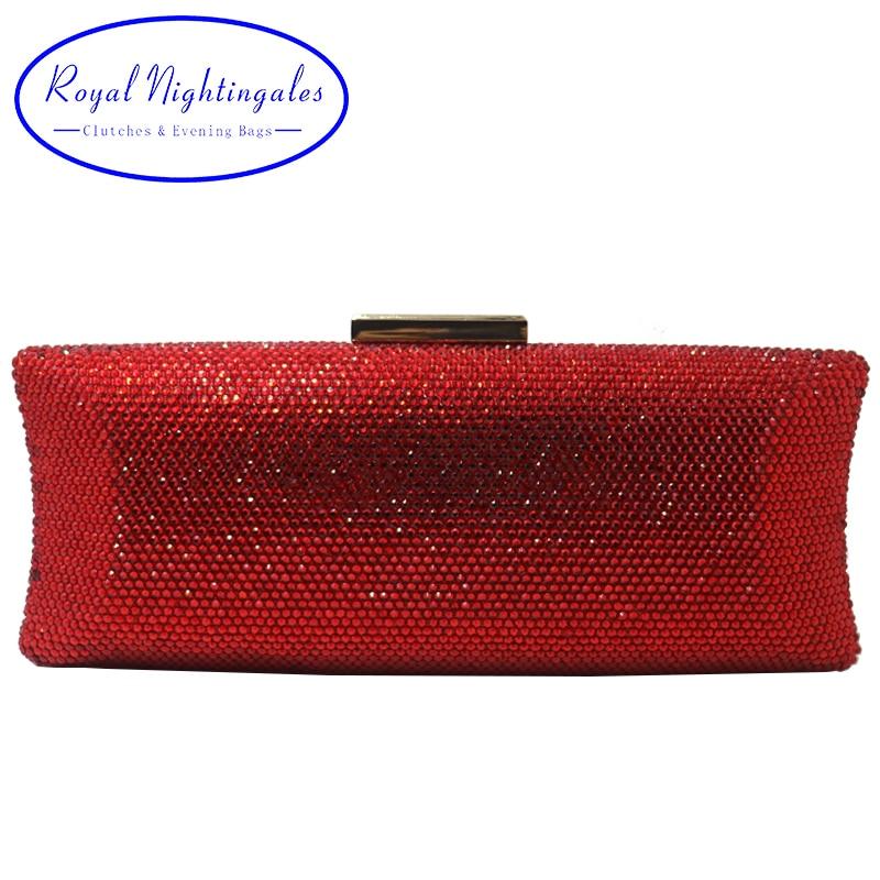 Royal Nightingales 2019 femmes cristal embrayages boîte dure sacs de soirée bandoulière sac à main bracelets embrayage pour fête bal pour cadeau-in Sacs de soirée from Baggages et sacs    1