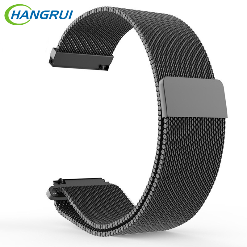 Hangrui 22mm Stainless Steel Milanese Loop Strap Smart Accessories for xiaomi Huami Amazfit strap Watch Band Watchband Bracelet
