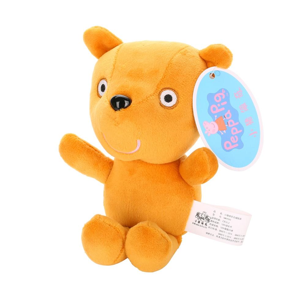 Оригинальные 19 см Свинка Пеппа Джордж Животные Мягкие плюшевые игрушки мультфильм семья друг свинка вечерние куклы для девочек детские подарки на день рождения