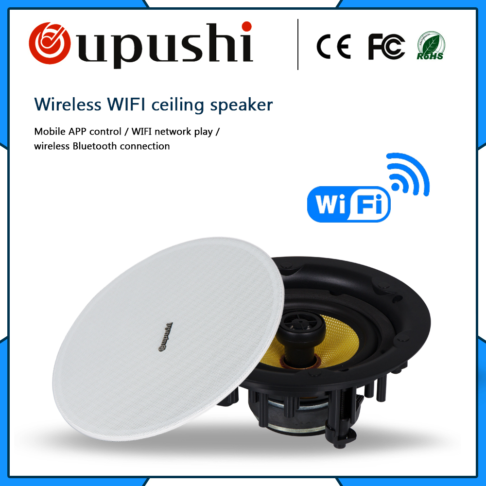 Oupushi Wifi Ceiling Speaker 20 60w High Quality Built In