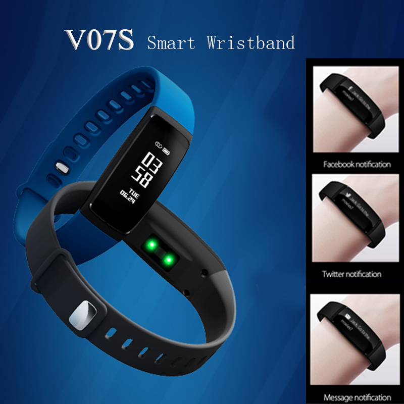 Fentorn V07S Smart Wristband with Female physiological reminder Blood pressure Heart rate Smart Band Fitness Bracelet