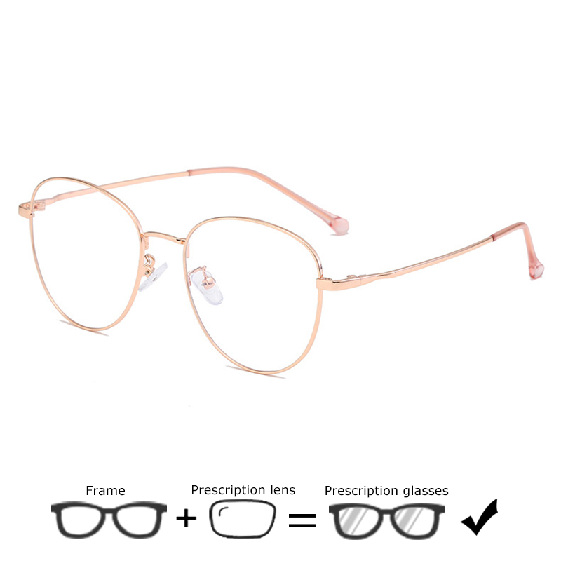 Ultralight Women Prescription Eyeglasses Retro Glasses Round Transparent Computer Optical Myopia Men Presbyopia Spectacles Male