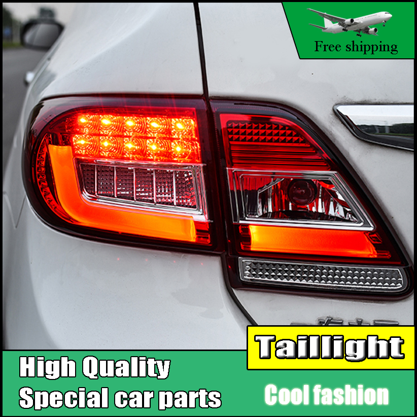 Car Styling Tail Lights For Toyota Corolla 2011 2012 2013 Taillights LED Tail Light Rear Lamp DRL+Brake+Signal Auto Accessories stainless steel strips for toyota highlander 2011 2012 2013 car styling full window trim decoration oem 16 8