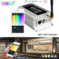 Экспресс WiFi-104 светодиодный контроллер Wi-Fi 2,4 ГГц WiFi поддерживает max12 зоновый контроллер M12 ИК-пульт дистанционного управления; R4-5A/R4-CC Zone прие...