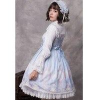 Unicorn & Stars ~ Sweet Sleeveless Chiffon Dress Printed Lolita Pary Dress by YLF