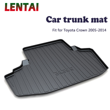 EALEN 1PC rear trunk Cargo mat For Toyota Crown 2005 2006 2007 2008 2009 2010 2011 2012 2013 2014 Boot Liner Tray Accessories ealen 1pc rear trunk cargo mat for toyota highlander 2009 2010 2011 2012 2013 2014 boot liner tray anti slip mat accessories